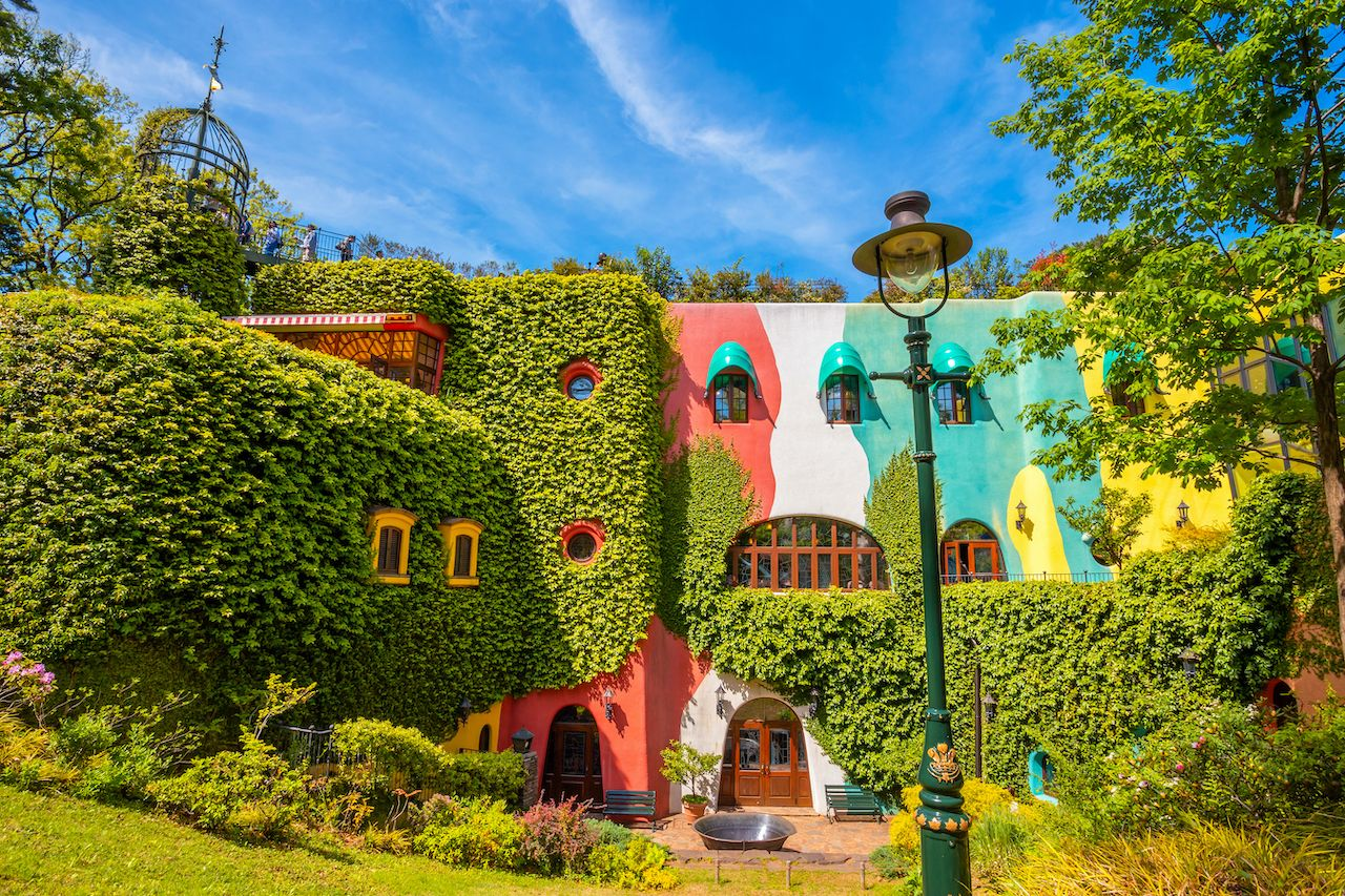 Tokyo, Japan - April 29 2018: Ghibli museum is a place that shows the work of Japanese animation Studio Ghibli, features of children, technology and finearts dedicated to art and animation technique, museums in japan