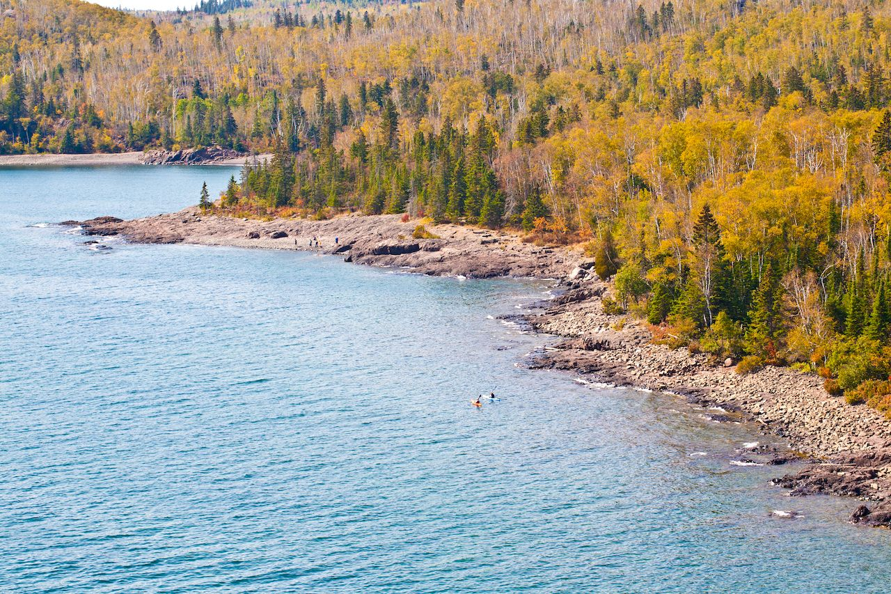 Fall of Great Lake, Duluth, Minnesota, United States, outdoors in Duluth