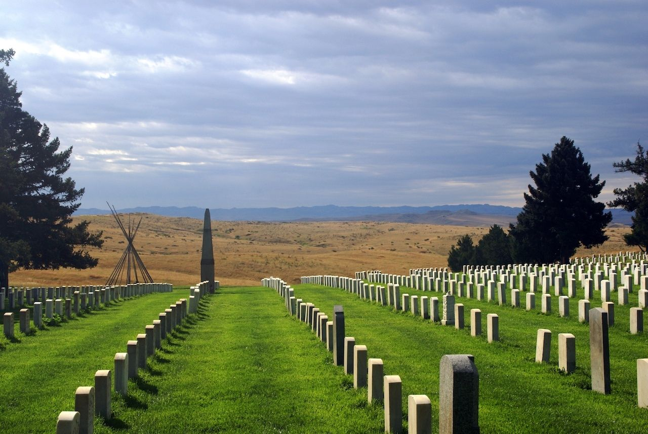 Little Big Horn Battlefield National Monument - Montana, native american monuments in montana