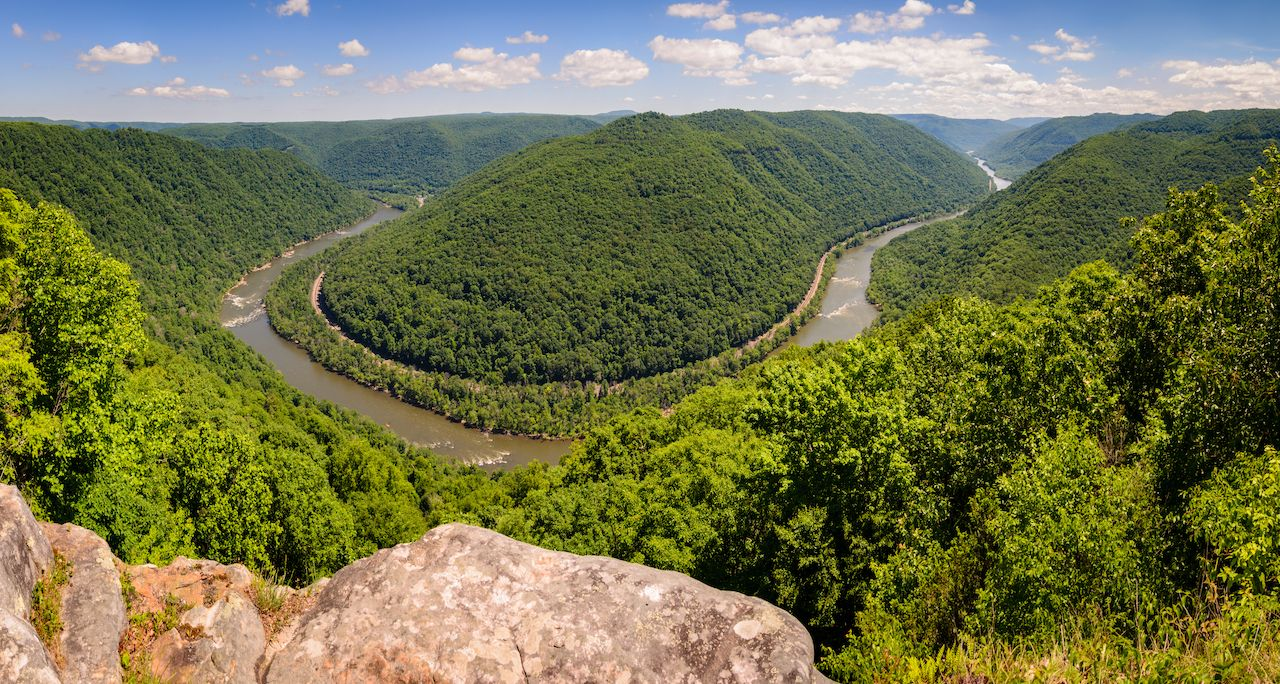The New River at New River Gorge National Park and Preserve, national parks reservation