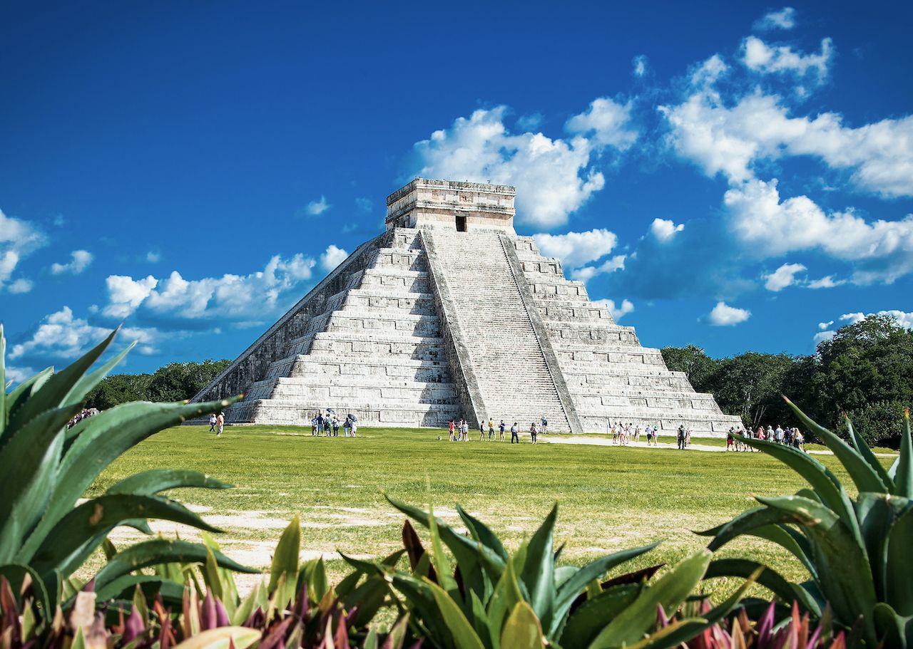 Chichen Itza, one of the most visited archaeological sites in Mexico, Yucatán Peninsula pyramids