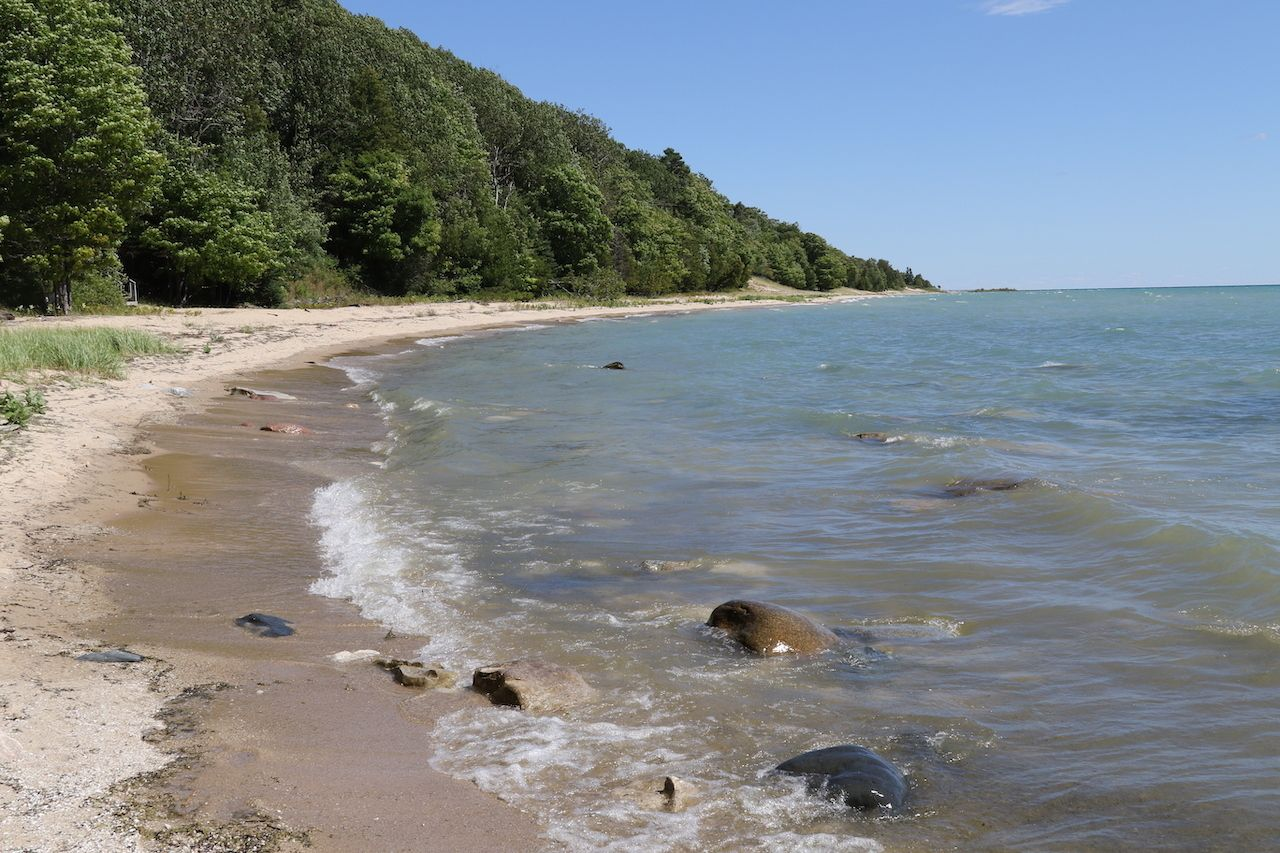The unspoiled beaches of Beaver Island, in Lake Michigan., Midwest Islands