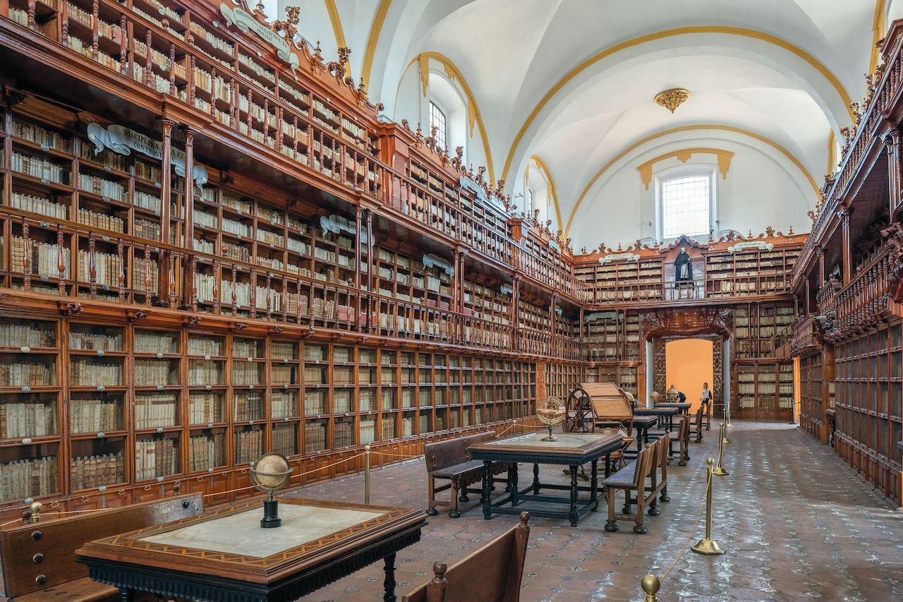 The Biblioteca Palafoxiana - a library in Puebla, Mexico.