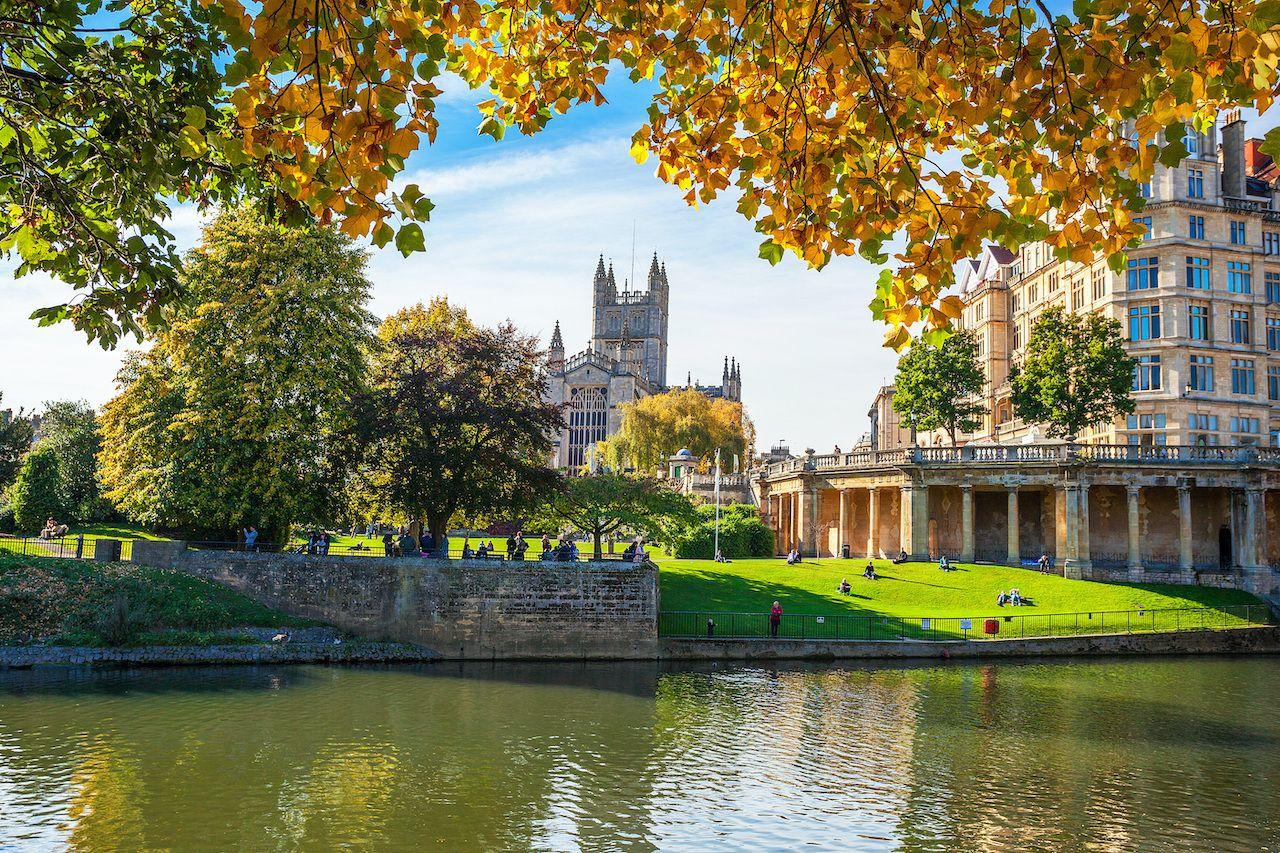 "Bath Abbey, Bath, England, UK, ""Bridgerton"" tour of London and Bath"