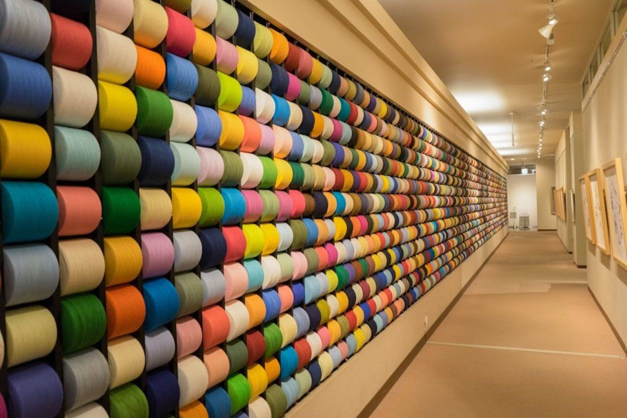 exhibit at towel museum, museums in Japan