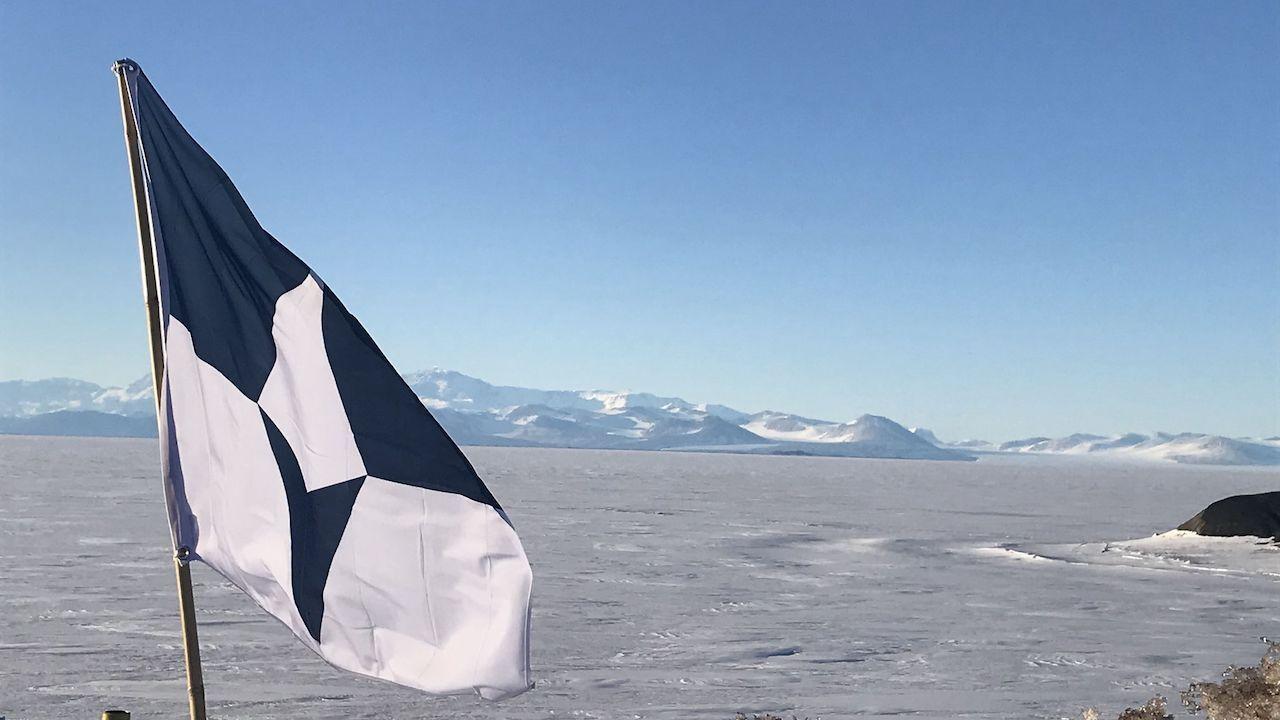 Antarctica new flag at McMurdo Station