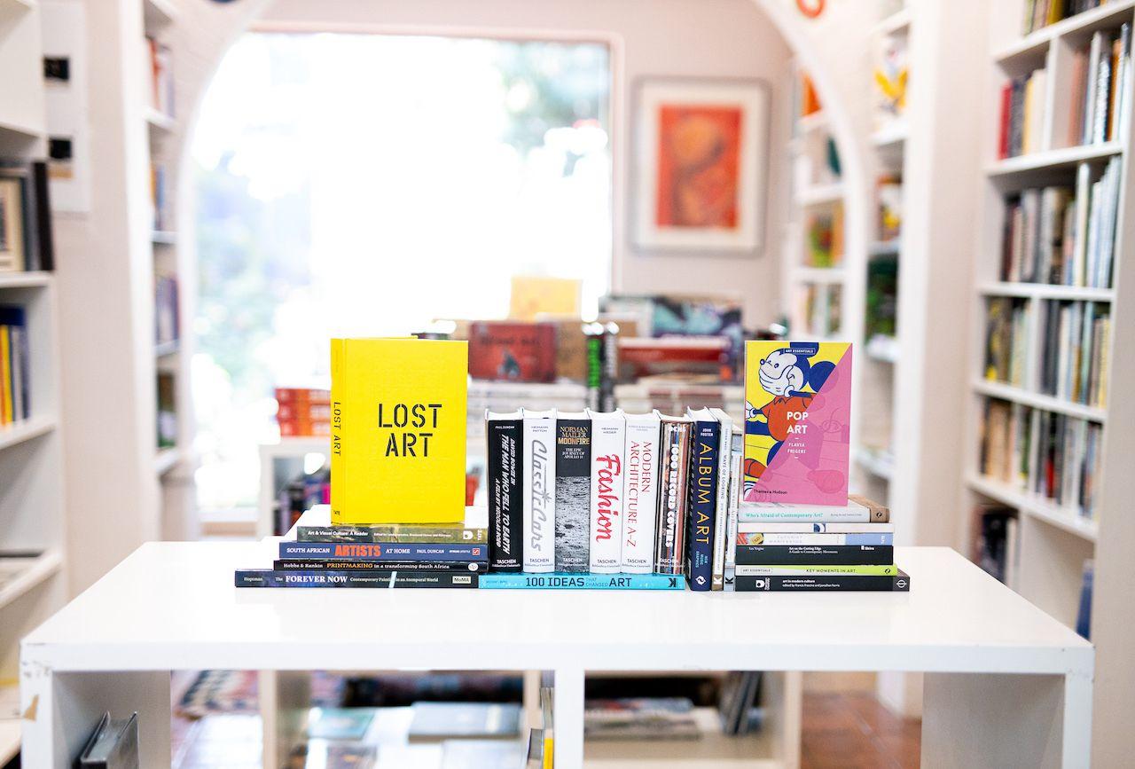 books on shelf at David Krut Booktstore, Maboneng district Johannesburg