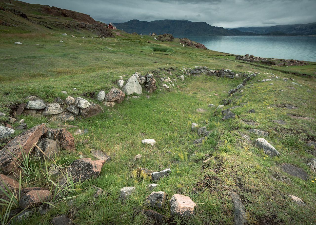Greenland longhouse footprint