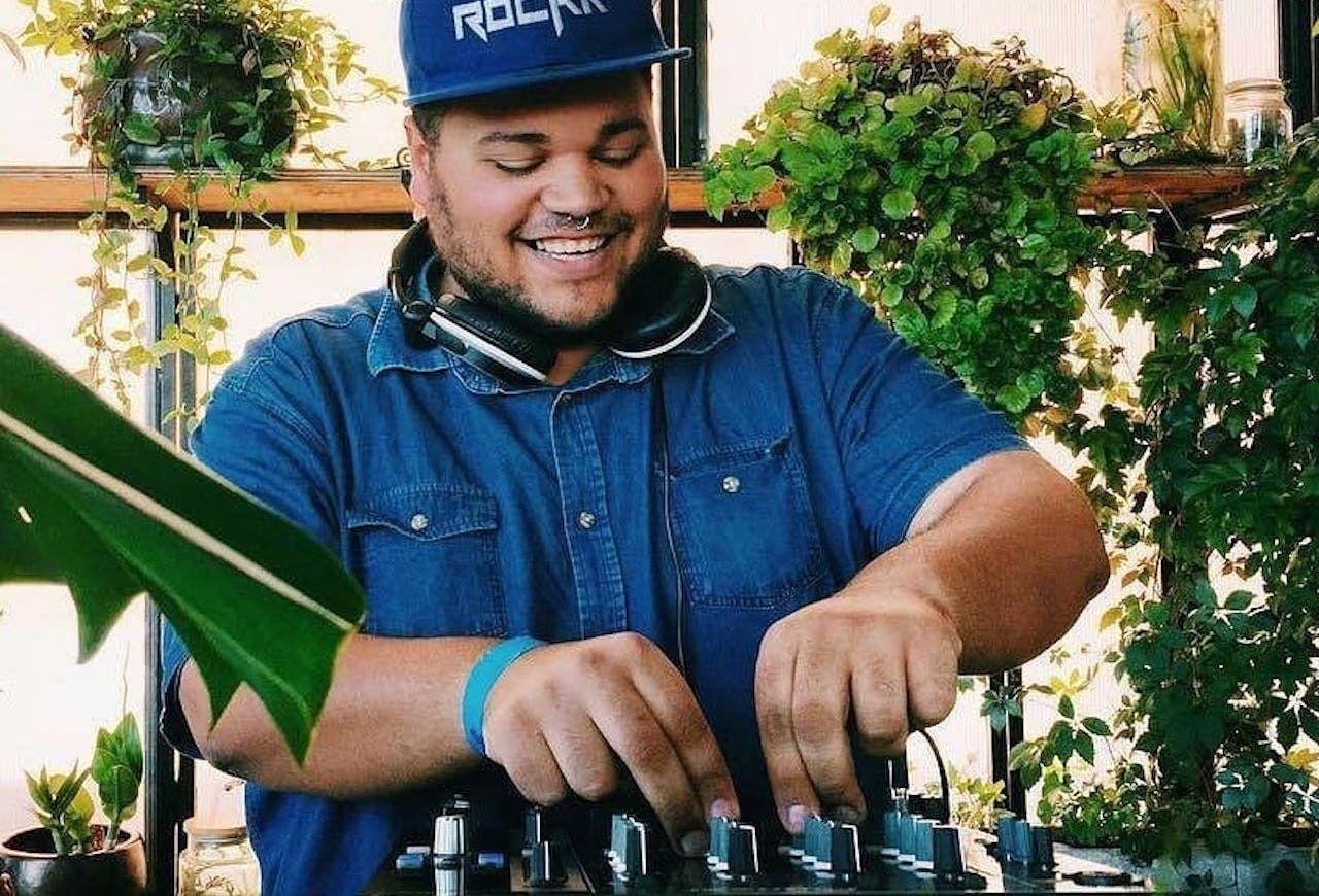 Living Room DJ spinmaster, Maboneng district Johannesburg