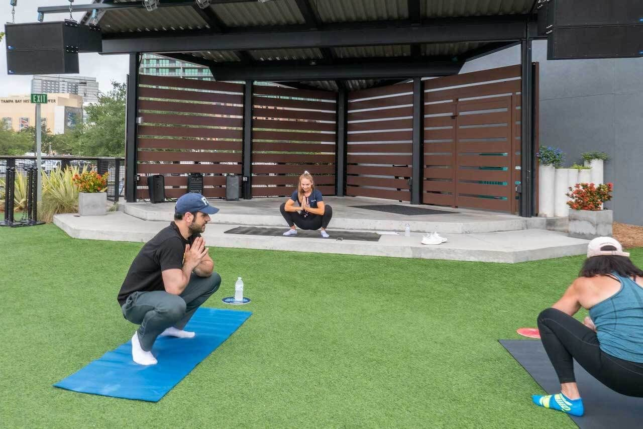 outdoor yoga sparkman wharf tampa, outdoors in central florida