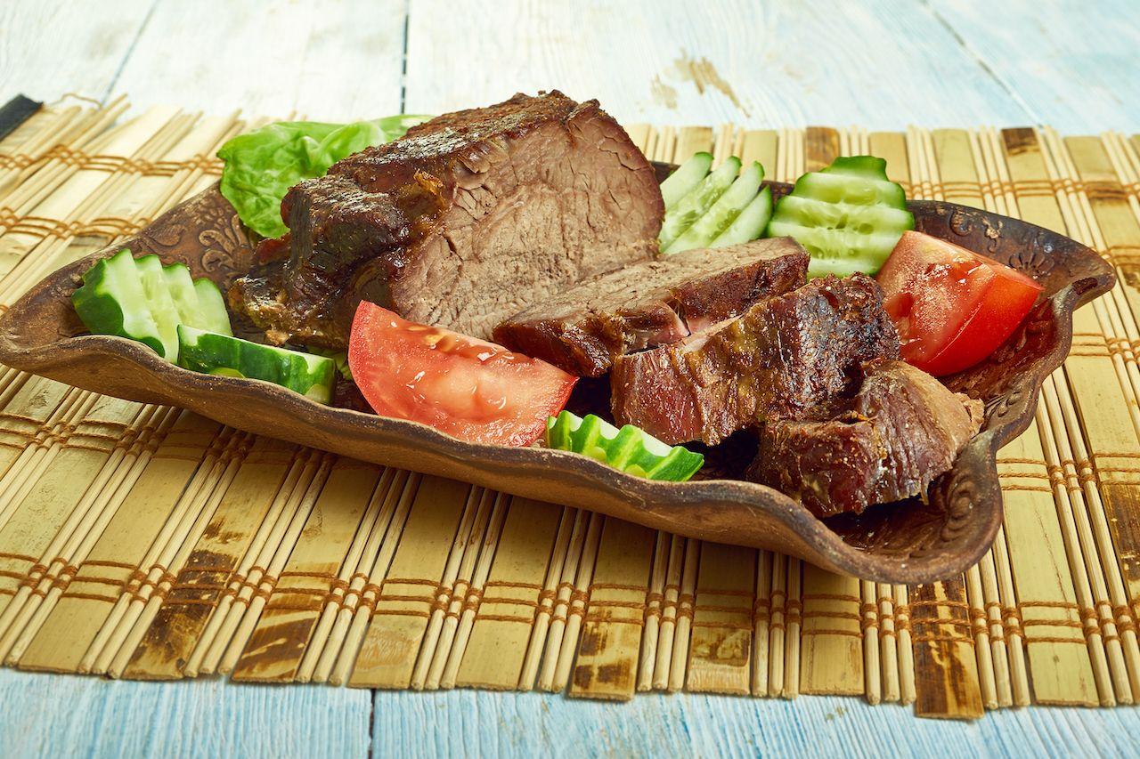 Pipikaula,-,Hawaiian,Cuisine,Dish,Of,Salted,And,Dried,Beef