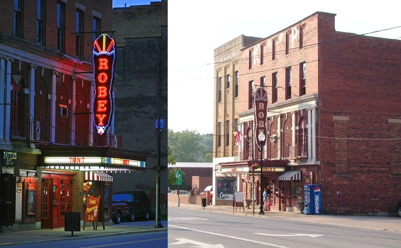 outside of Robey Theater West Virginia