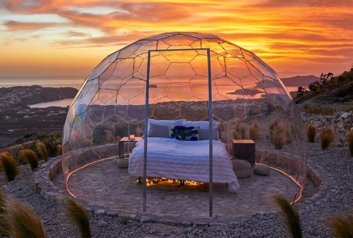 Sky Dome accommodation in Santorini, Greece