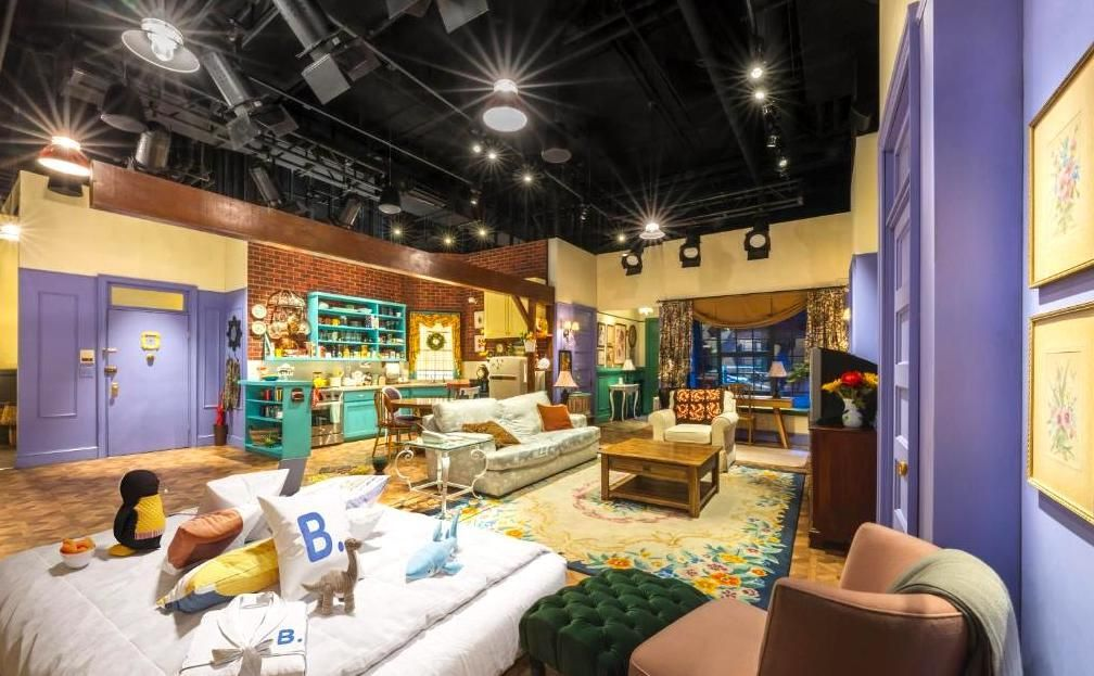 Spend the night on the set of iconic TV show Friends couches and living room set, the friends experience nyc