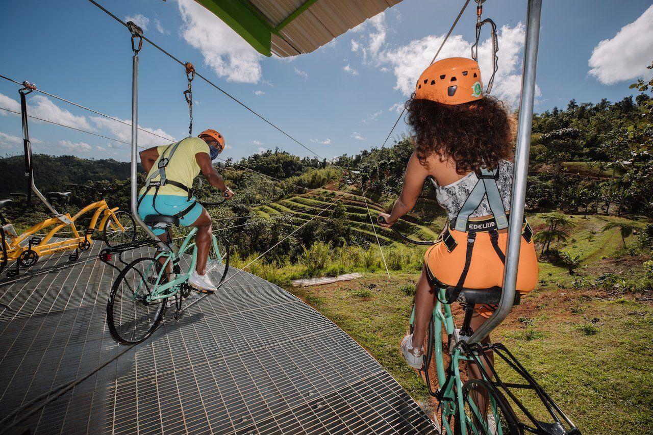 Bike zip wire