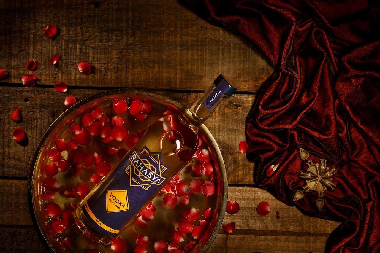 Rahasya bottle of vodka, Indian craft spirits