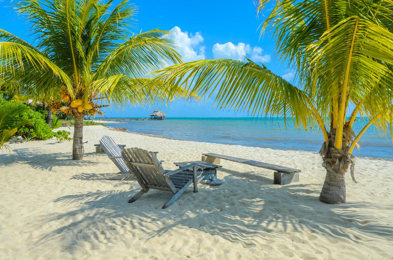 beach and chairs, where to stay in Belize