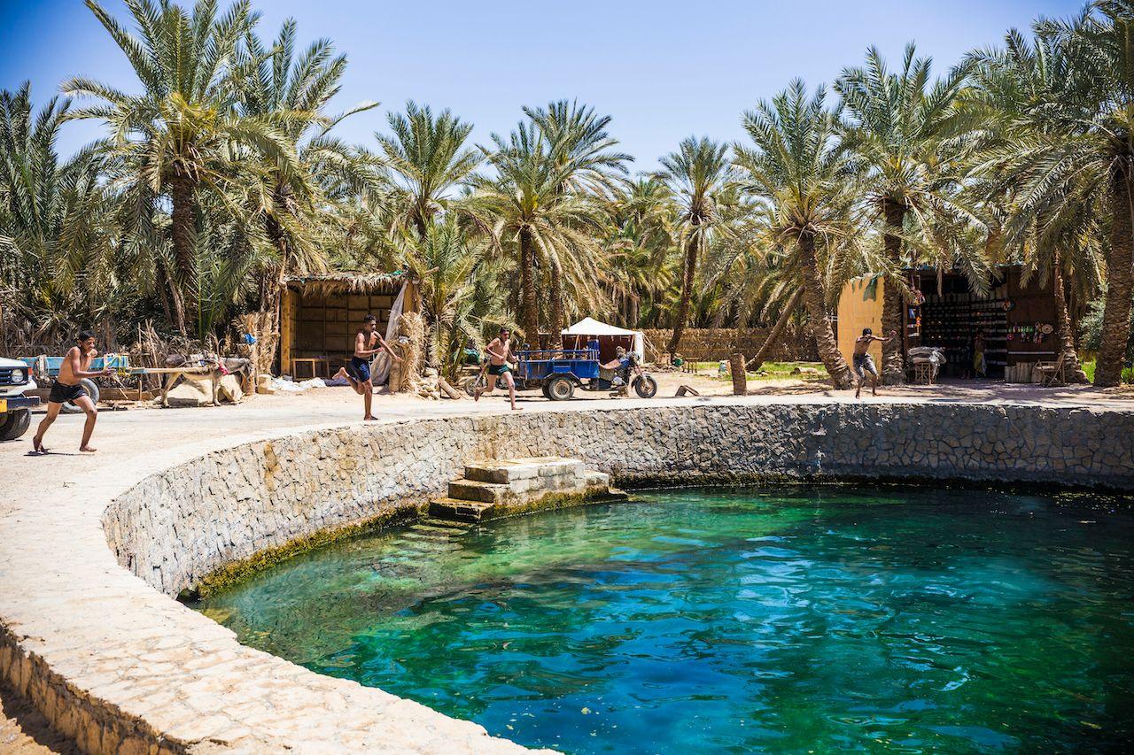 Siwa Egypt Cleopatra's,Pool, Siwa Oasis, Egypt