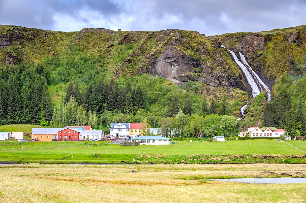 Systrafoss Waterfall - Iceland, villages in Iceland