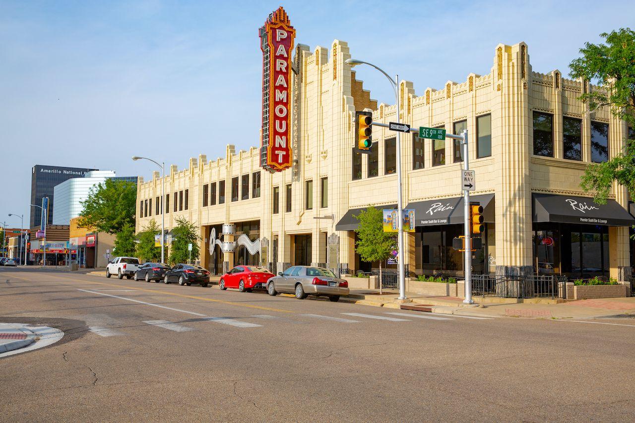 Downtown Amarillo in Texas, USA, 08-21-2018, Texas Panhandle