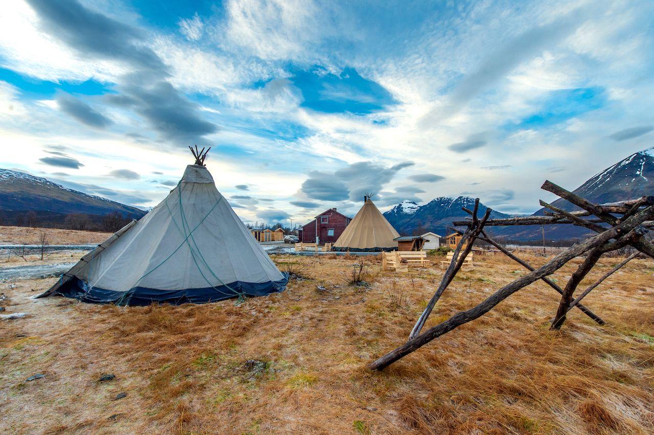 Traditional,Sami,Reindeer-skin,Tents,(lappish,Yurts)