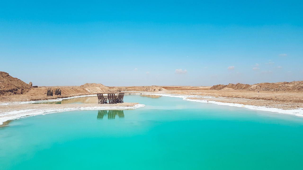 Salt Lake In Egypt, Siwa Oasis, Egypt