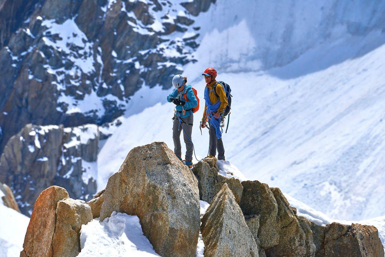 climbers , climbing in Chamonix
