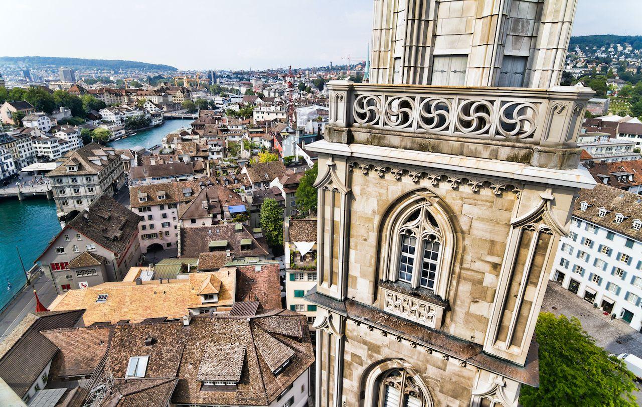 Top Of Zurich Church,  Save money in Zurich