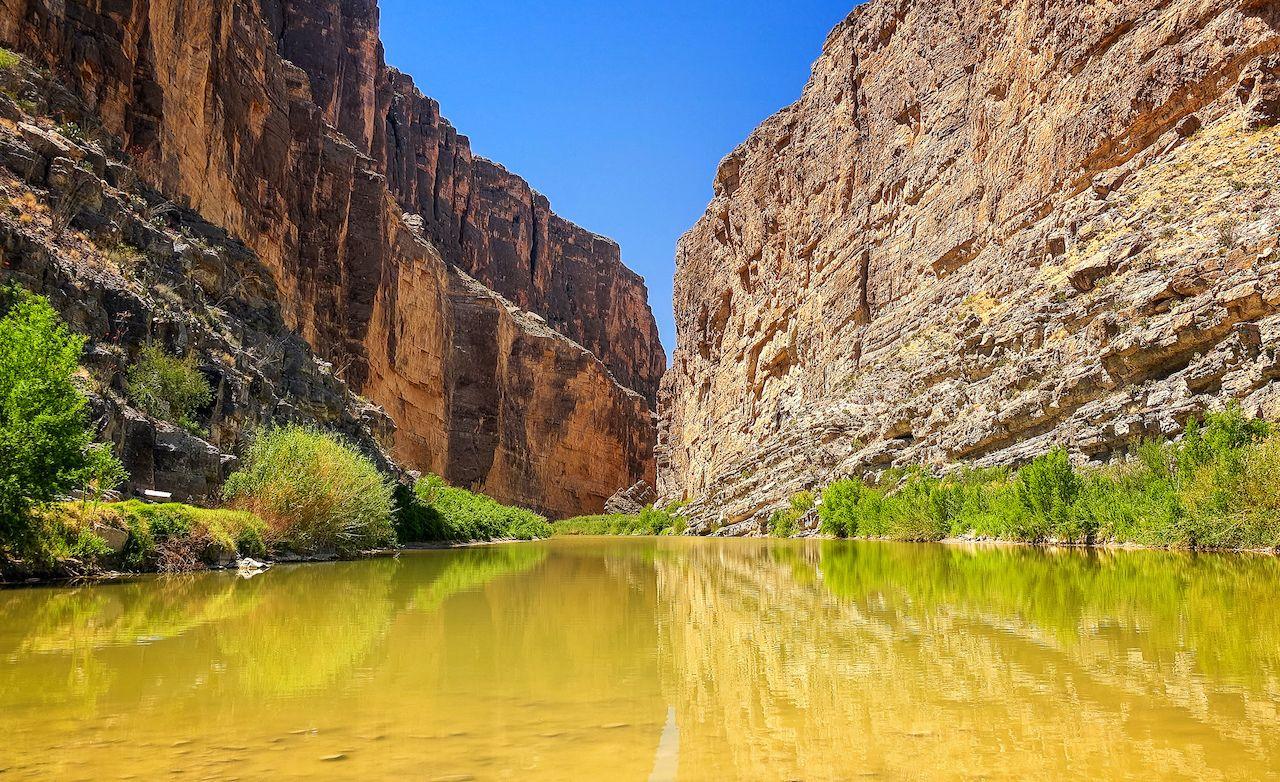 Rio,Grande,River,Flows,Through,Santa,Elena,Canyon,In,Big
