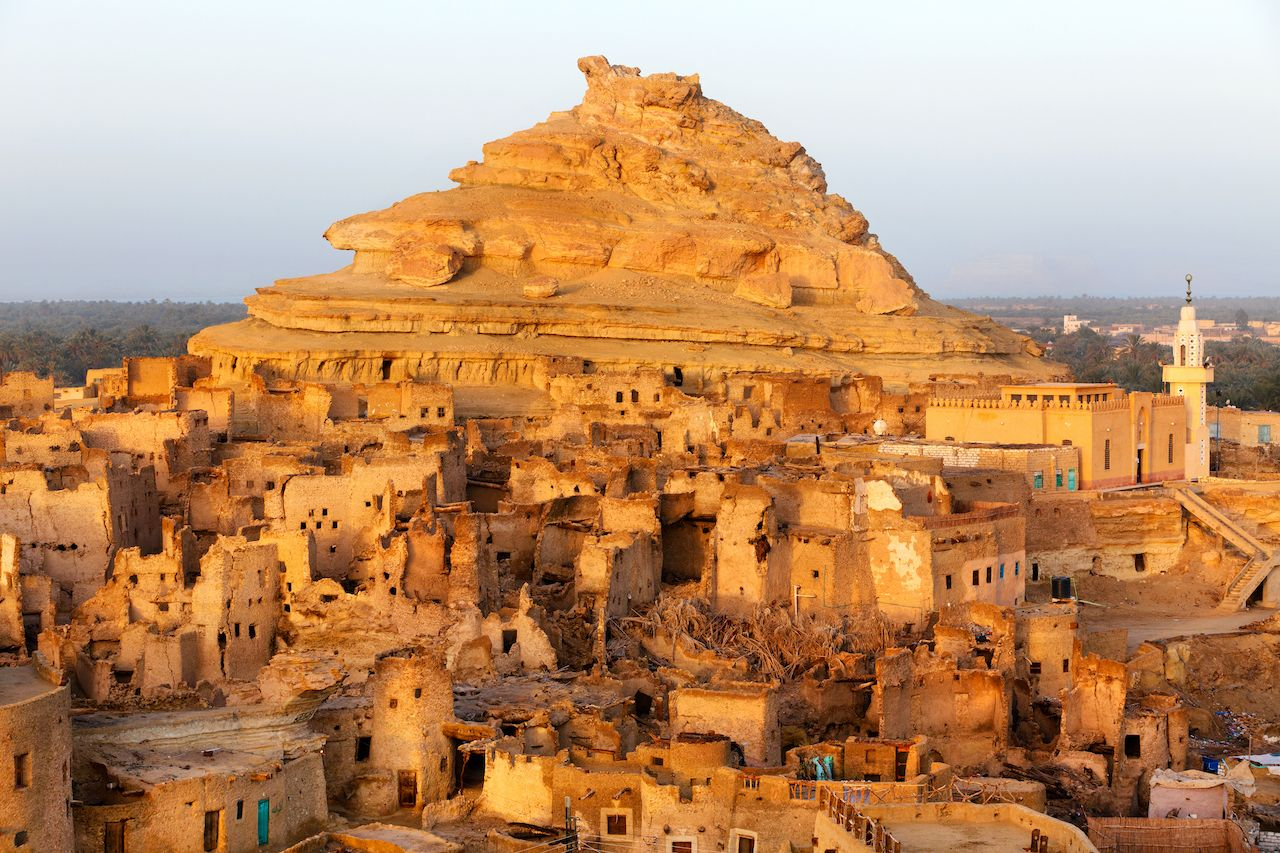 View Of The Shali Fortress In Siwa Oasis, Siwa Oasis, Egypt
