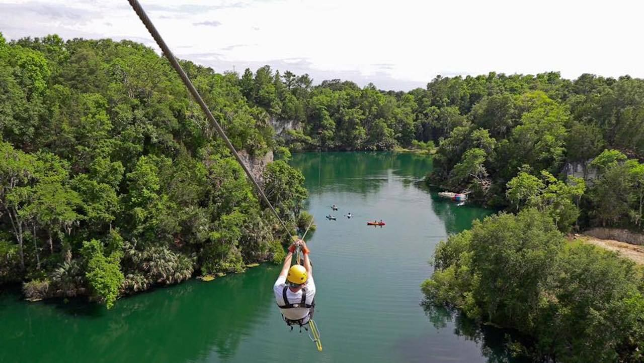 zipline canyons over water, outdoors in central florida