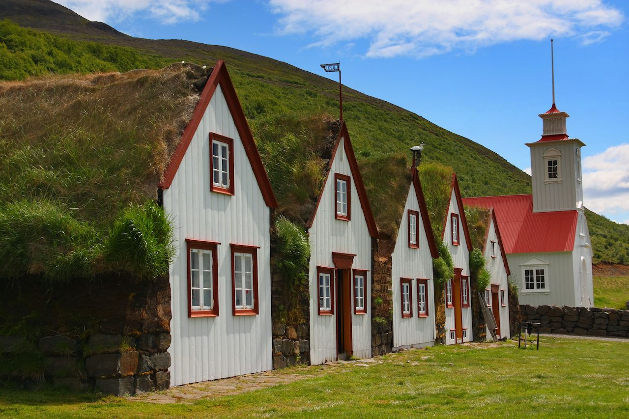 Laufas - the old rectory and farm museum. Northern Iceland, Akureyri
