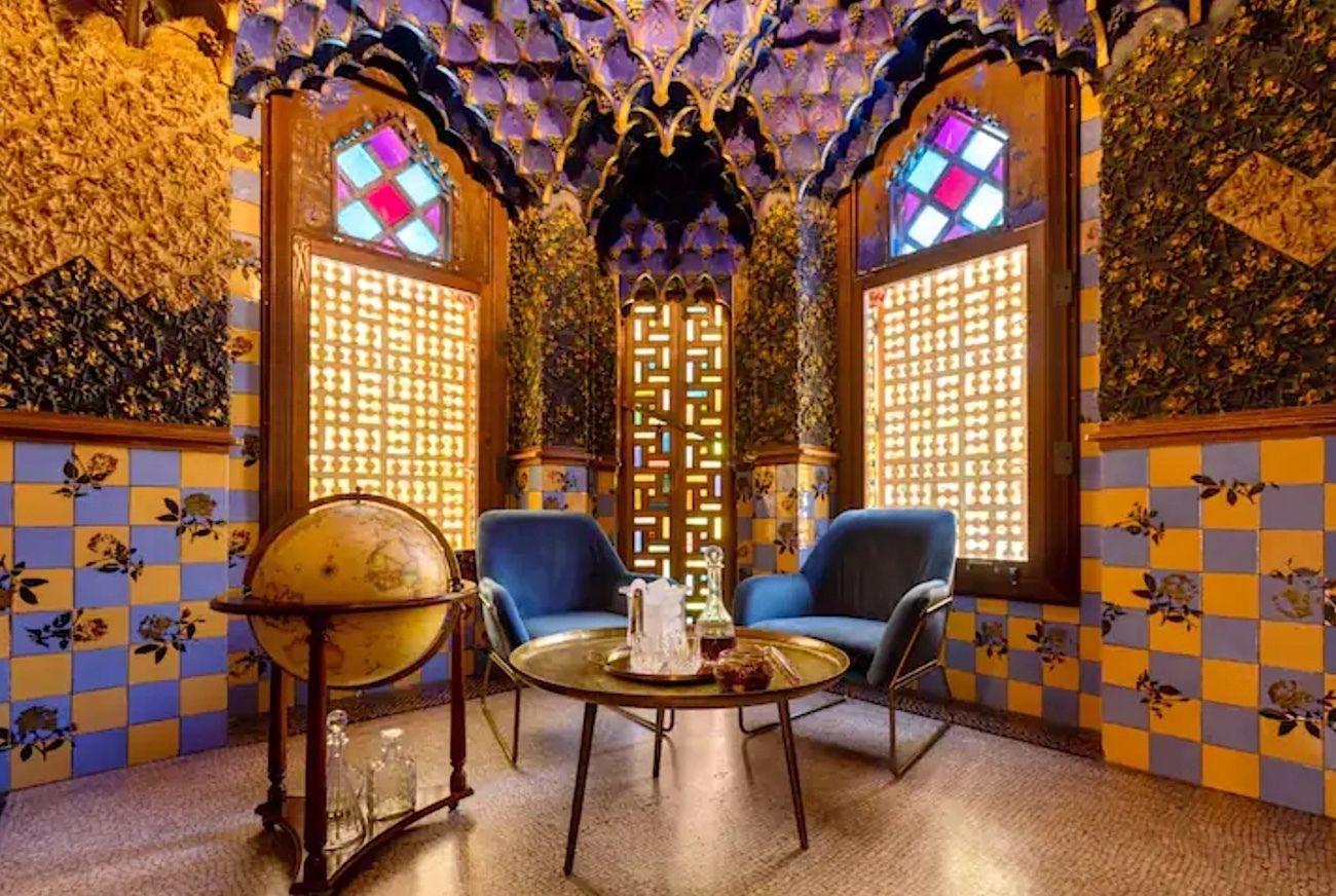 Antoni Gaudi house in Barcelona Airbnb interiors