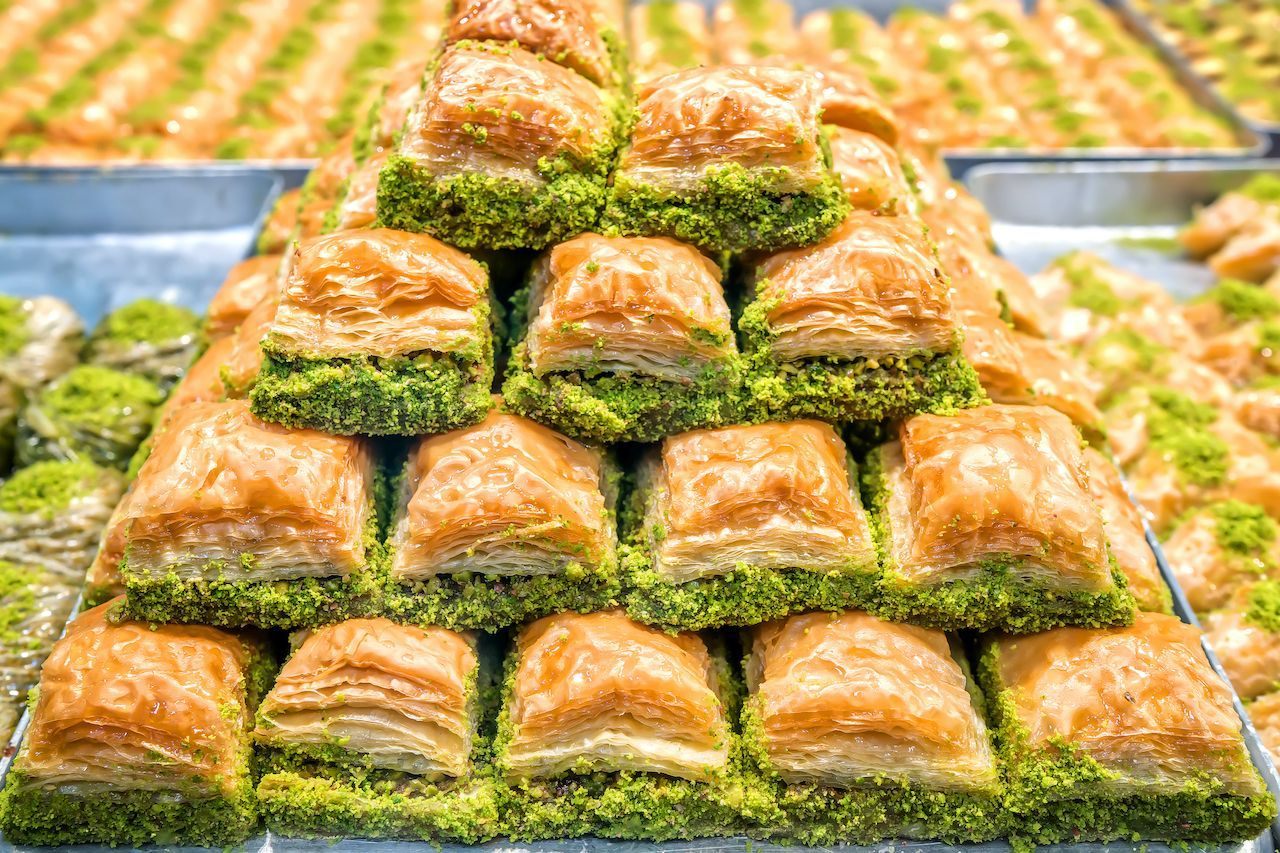 Baklava,Pastry,Dessert.,Traditional,Turkish,Dessert