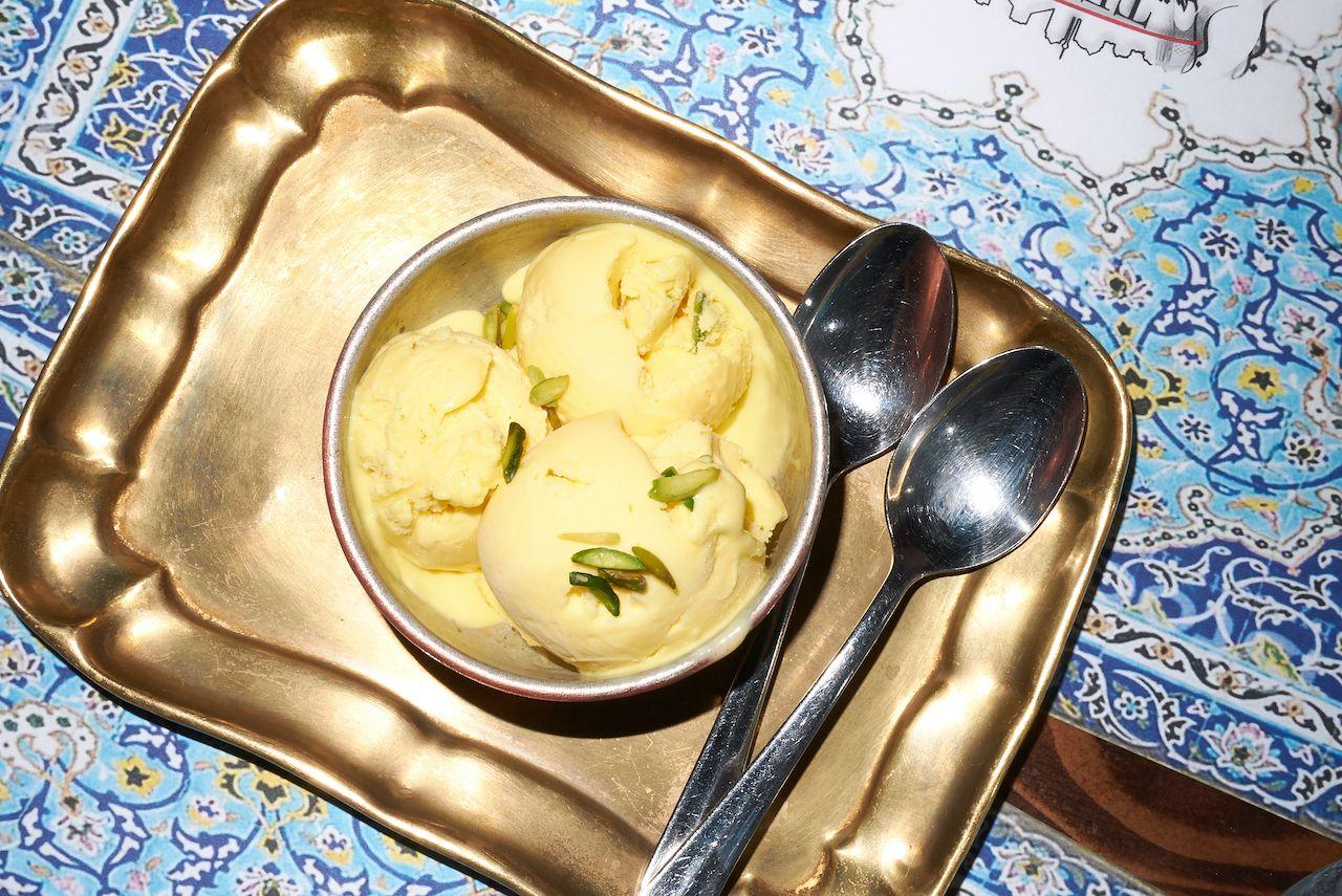 Bastani,Ice,Cream,On,A,Gold,Tray