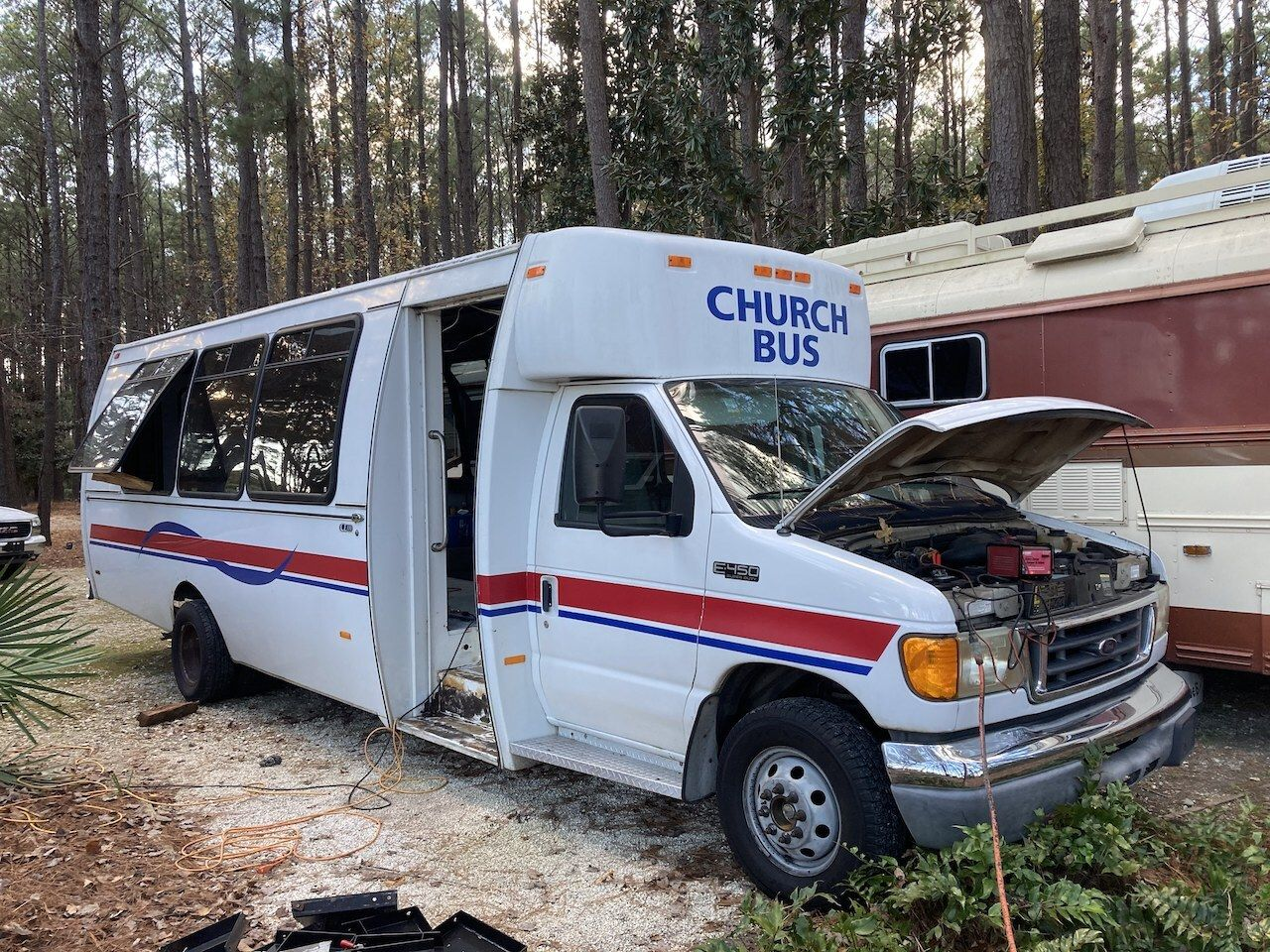 Church bus conversion breakdown, live in converted bus