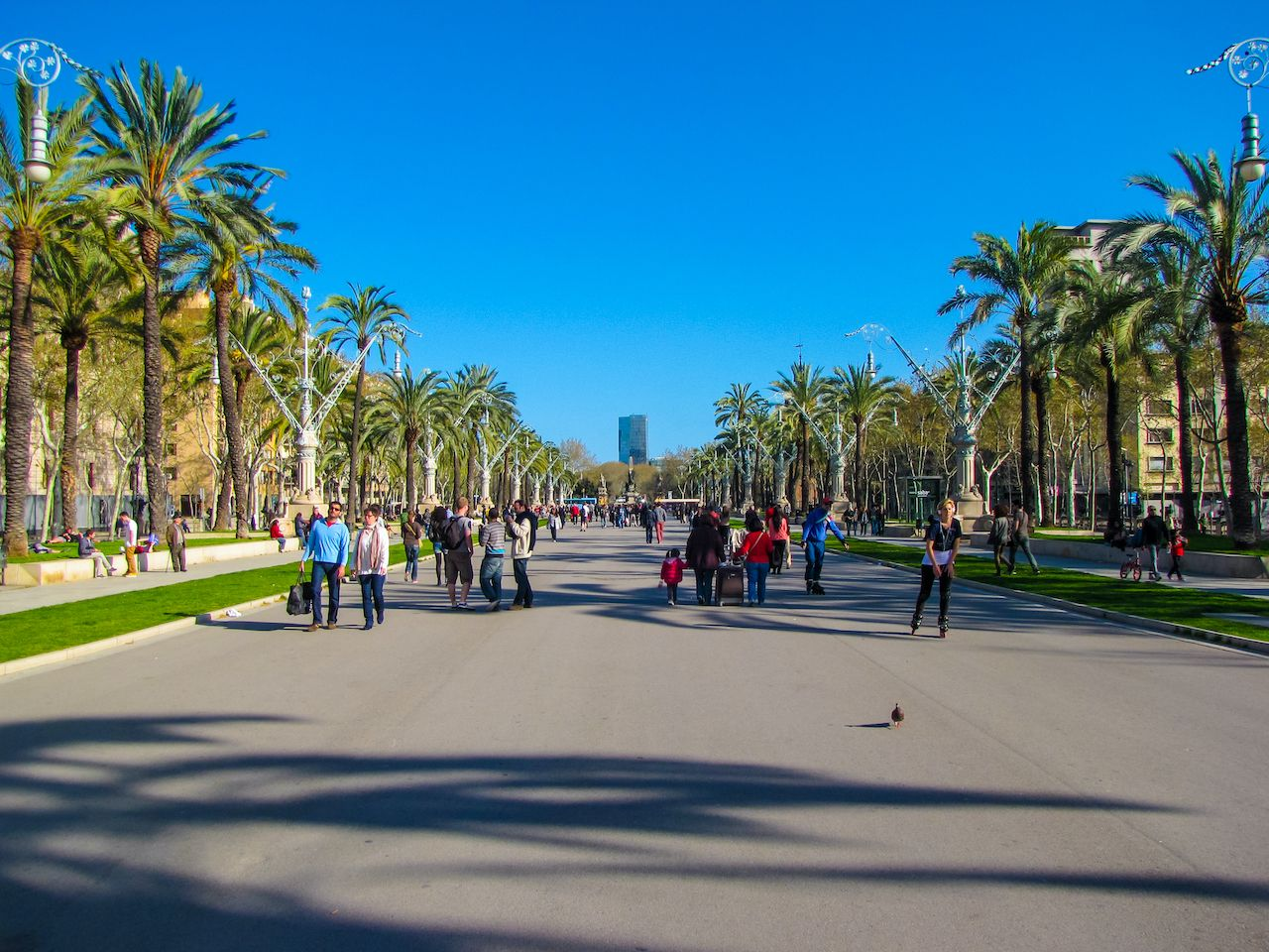 Barcelona,,Spain,-,March,31,,2013:,View,Of,The,Passeig, coolest streets