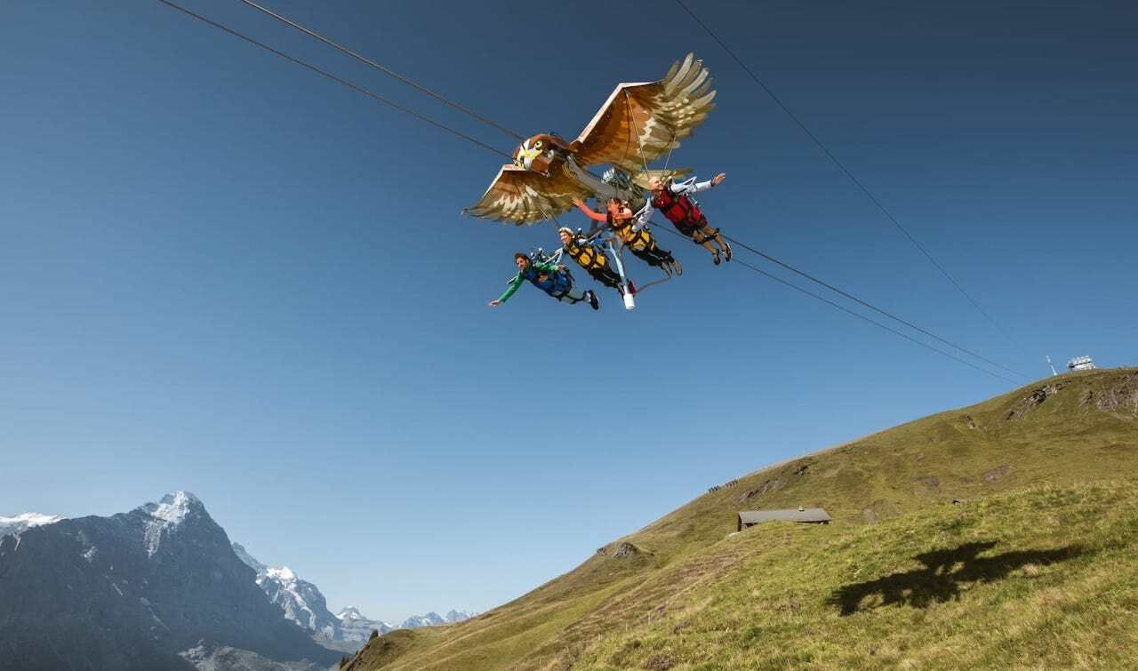 First Glider attraction to try during your one week in Switzerland, one week in Switzerland