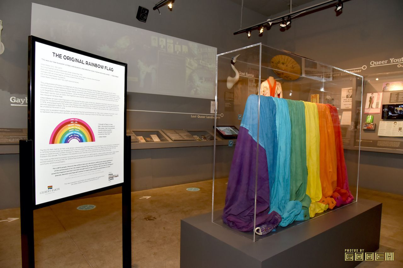 GLBT Historical Society original Rainbow Flag