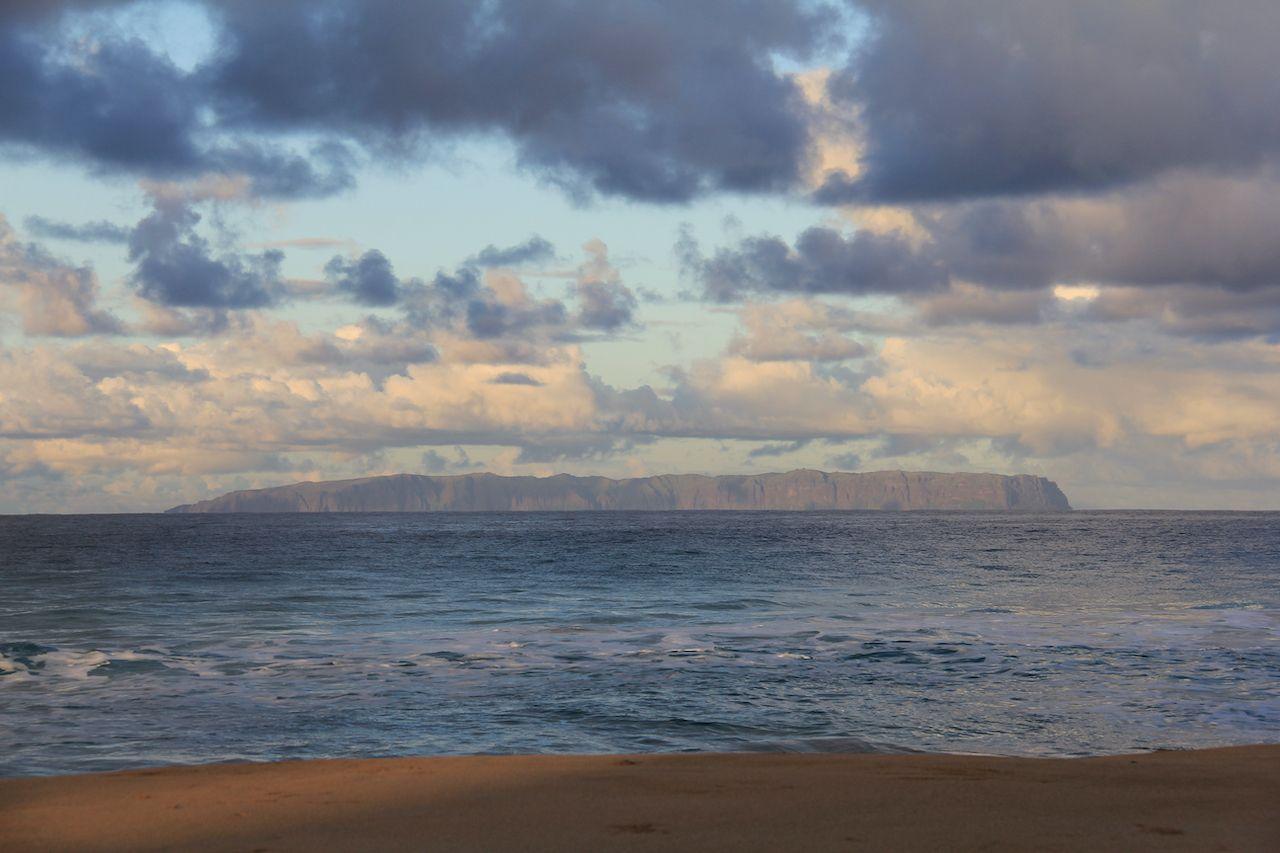 The Island of Niihau is located at the top of the Hawaiian Island Chain. Taken off the west coast of Kauai Island., Hawaii's Islands