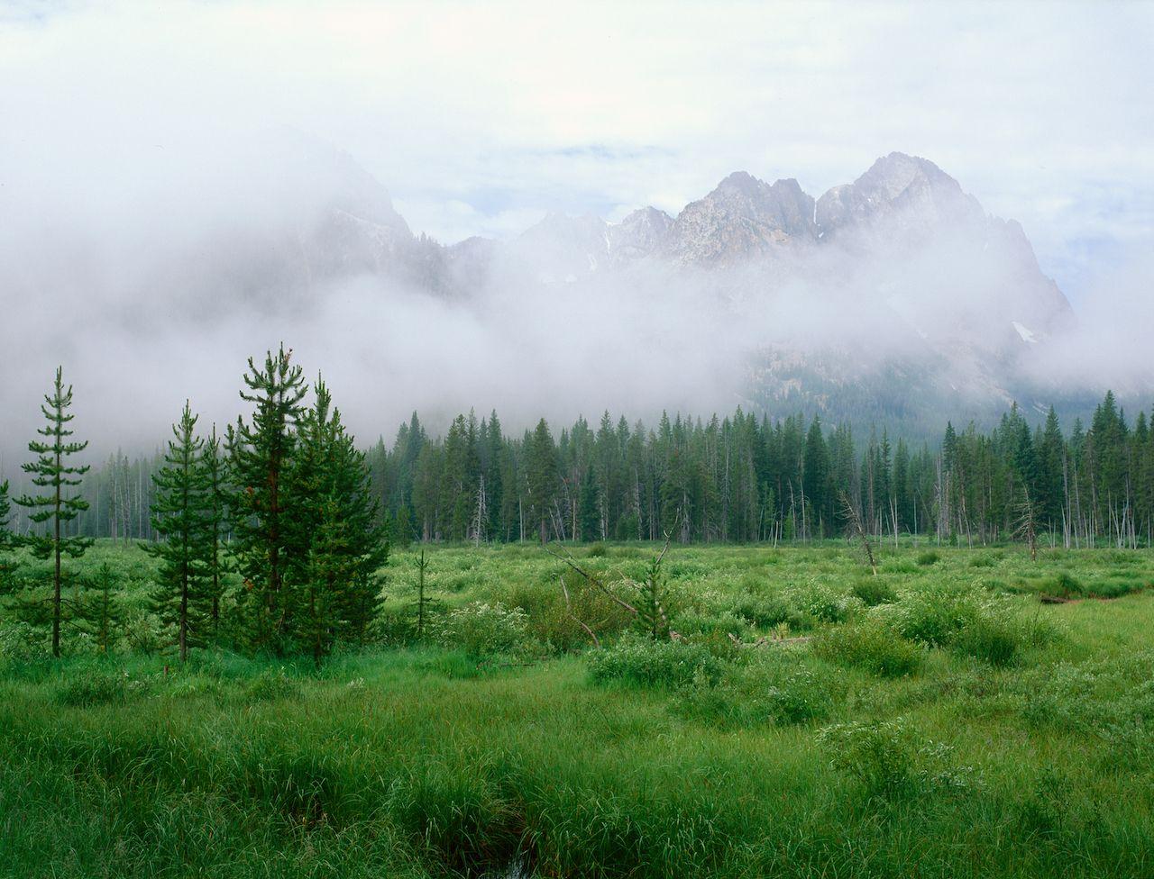 Rising,Mist,Along,The,Fishhook,Creek,Trail,,Sawtooth,Range,,Idaho, hikes in the Sawtooth