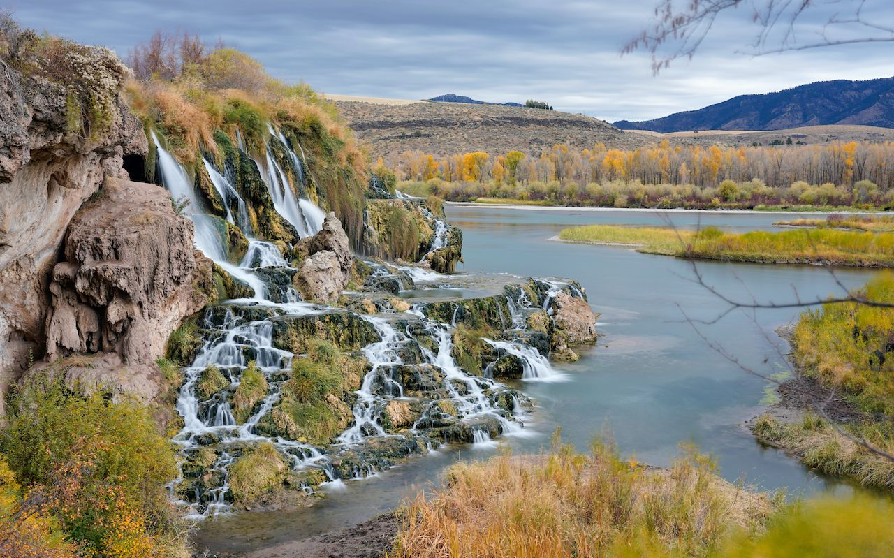 Idaho,Falls,And,Bridal,Veil,Falls, hikes in the Sawtooth