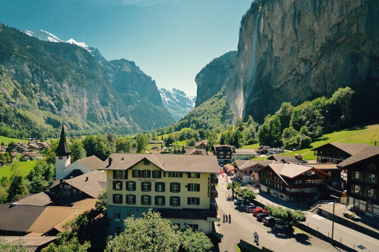 Hotel Staubach, Lauterbrunnen in Switzerland has some of the best views in the country, Switzerland views