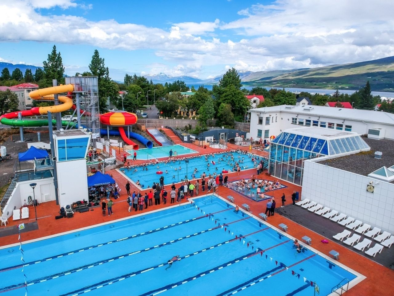 Iceland Akureyri Swimming Pool, Akureyri
