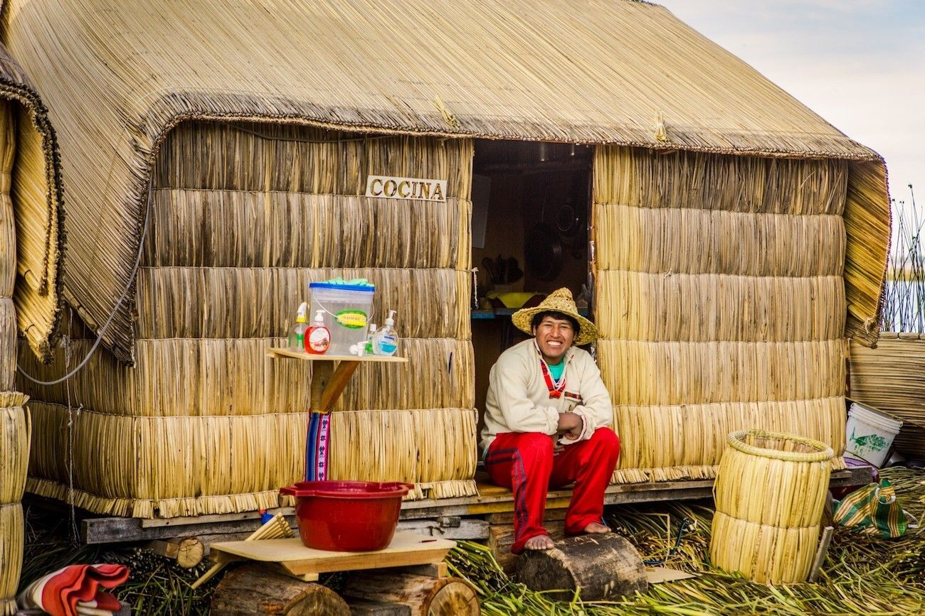 Kitchen on one of the Uros Islands