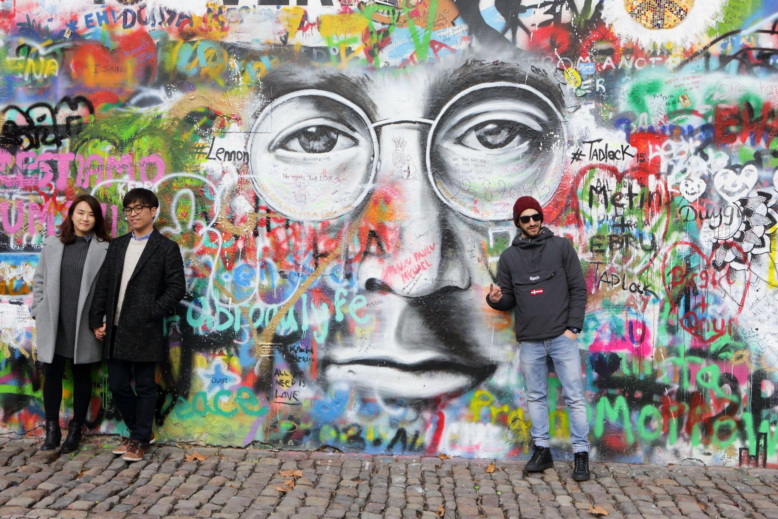 Prague,,Czech,Republic,-,January,05:,The,Lennon,Wall,Since, Malá Strana
