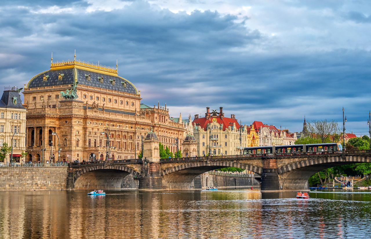 The,National,Theatre,Located,In,Prague,,Czech,Republic,On,The,  New Town