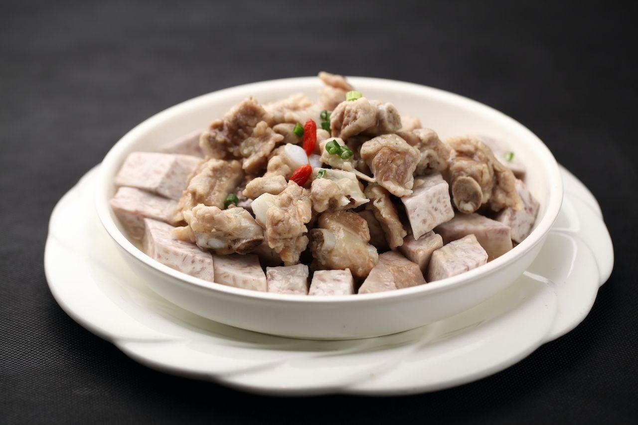 Taro,Steamed,Pork,Ribs,  Orchid Island taro