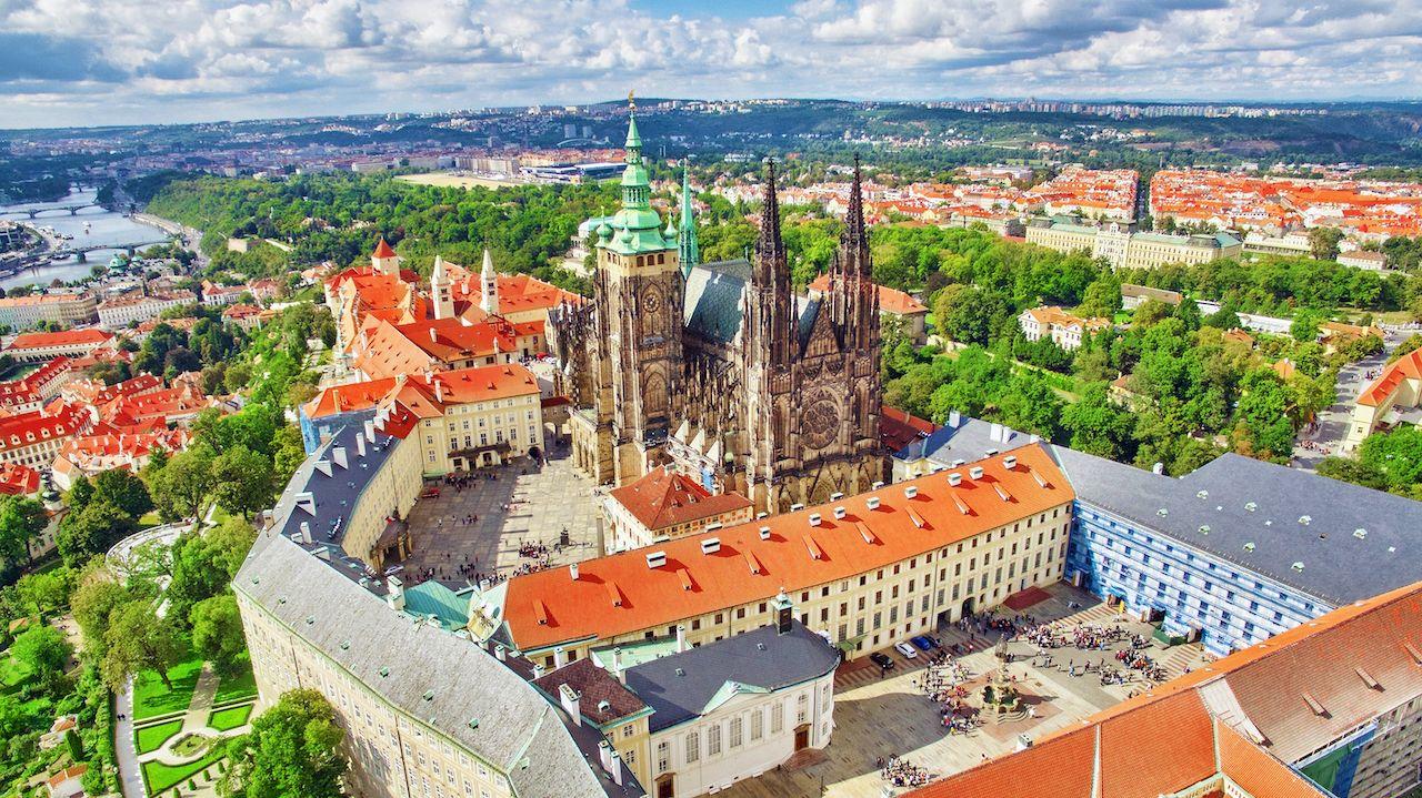 Area,Lesser,Town,Of,Prague,,Near,The,Church,Saint,Vitus, Malá Strana