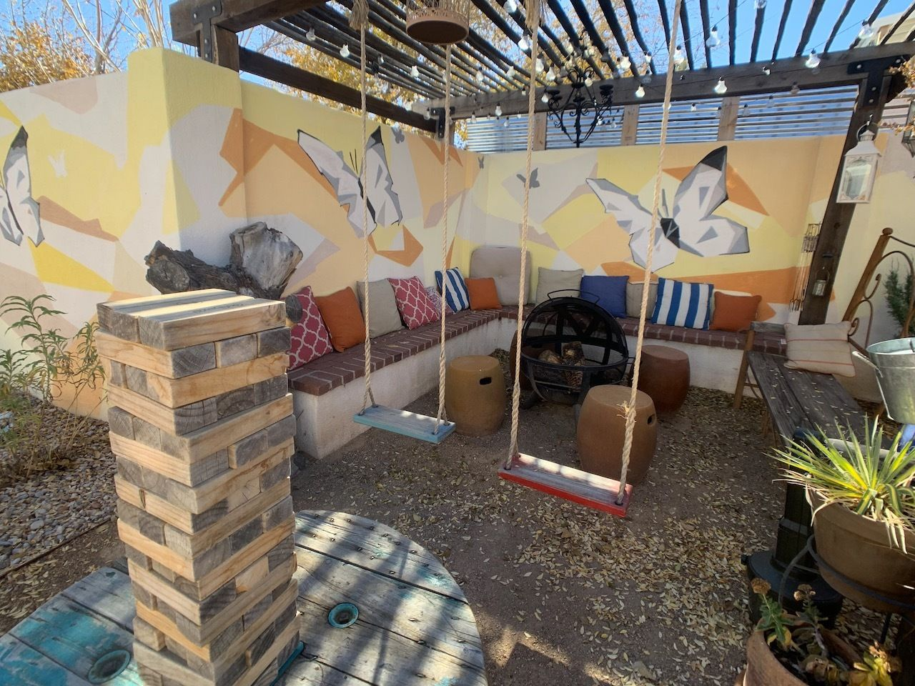 The-Painted-Lady-Bed-and-Brew-Albuquerque-patio, The Painted Lady Bed and Brew Albuquerque